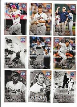 2019 Topps Series 1 150 YEARS OF PROFESSIONAL BASEBALL Complete Insert Set (150)