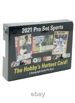 2021 Leaf Pro Set Sports Trading Card HOBBY Box2 Autos/box Leylah Fernandez