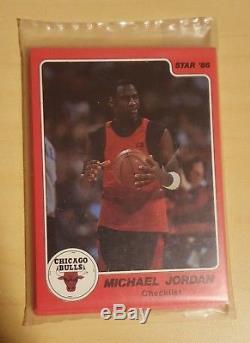85-86 Star Michael Jordan Team Set Factory Sealed Rookie Card#101 Fleer86-87 #57