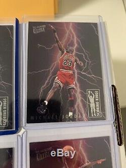 93-94 Fleer Ultra Scoring Kings Complete Set! Including Jordan And Shaq! Rare