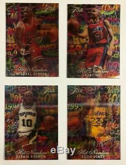 95-96 Flair Hot Numbers 3D Insert Set Michael Jordan Barkley Shaq Kidd abbey&fey