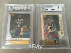 96-97 BGS9 Bowmans Best Kobe Bryant Rookie Set Atomic Refractors, Refractors