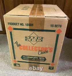 BEAUTIFUL 1989 Upper Deck Factory Sealed Set Case-15 Sets Griffey RC 15 PSA 10s