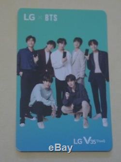 BTS X LG V35 ThinQ Official PhotoCard Set Rare JungKook Jimin V SUGA J Hope JIN 03 imq