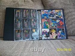 Batman Saga of the Dark Knight complete trading card set in binder