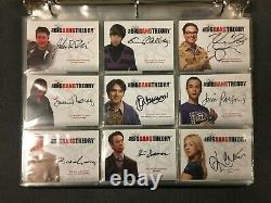 Big Bang Theory Seasons 1 & 2 Complete Autograph/Wardrobe Set Cryptozoic Binders