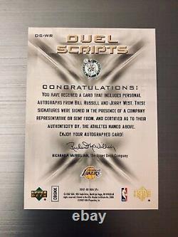 Bill Russell / Jerry West Hof Dual Scripts Auto Rare Sp #12/25 Celtics / Lakers