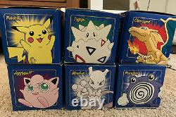 Burger King Pokemon 23K Gold Plated Trading Cards Blue Box 6 Card Set Sealed