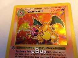 Charizard 4/102 Base Set 1st Edition Holo Pokemon Card