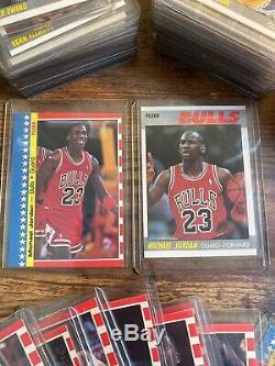 Complete 1987 Fleer Basketball Set with Michael Jordan 2nd Year Rookies