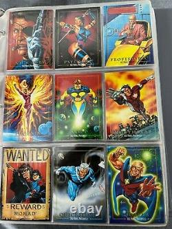 Complete 1992 Marvel Masterpieces Joe Jusko Set withall 5 Specta and 1 Promo Card