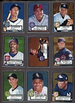 Complete Set (110) 2001 Topps Heritage Chrome Baseball with Derek Jeter /552
