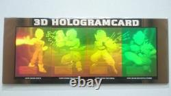 Dragon Ball Amada Trading Collection 3D Hologram card set of 4 Unopened Rare F/S