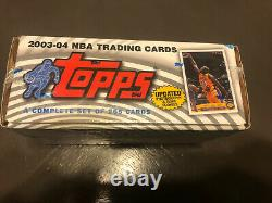 FACTORY SEALED 2003-04 Topps Complete Set LeBron James, Carmelo Anthony RC