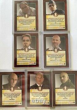 FULL SET 2008 IRON MAN Autographed Trading Cards Robert Downey Jr Jeff Bridges