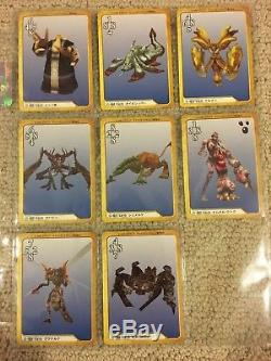 Final Fantasy 8 VIII Triple Triad Carddass Trading Card Game Almost Complete Set