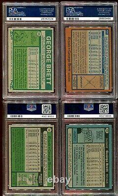 GEORGE BRETT PSA 5 7 8 LOT 1975 TOPPS ROOKIE to 1980 First 6 years SET REGISTRY