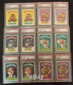 Garbage Pail Kids Original Series 1 ALL PSA 8 COMPLETE SET 88 cards with PACK RARE