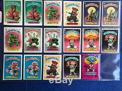 Garbage Pail Kids series 1 88/88 Card Full Variation Set Condition Lowithmid Grade