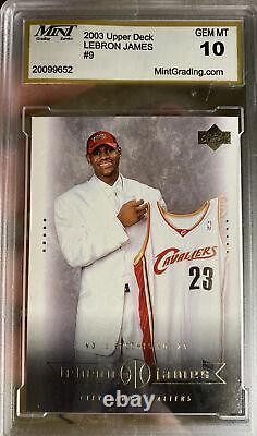 Iconic 2003 Upper Deck LeBron James Rookie Card #9 Box Set Gem Mint 10 Invest SP