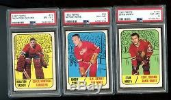 Incredible 1967 Topps Hockey Set. 45 PSA 8 or higher cards. All ORR cards PSA 8