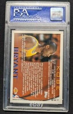 KOBE BRYANT 1996 TOPPS ROOKIE CARD #138 PSA 10 GEM MINT RC Los Angeles Lakers