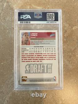 LeBRON JAMES 2003-04 TOPPS COLLECTION #221 FACTORY SET ROOKIE CARD PSA 7 NM