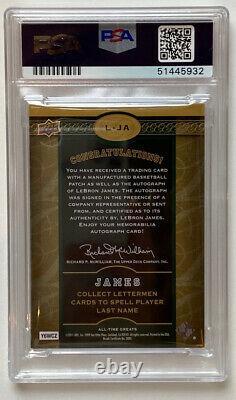 Lebron James Auto! JAMES Set! (5 Card Set) Each Card PSA10 Auto! POP 1's