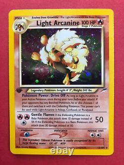 Light Arcanine 12/105 Pokemon Trading Card Game Neo Destiny Set 1st Edition Mint