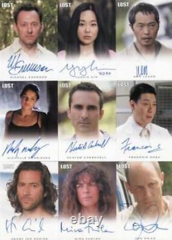 Lost Seasons 1-5 Autograph Card Set 34 Cards