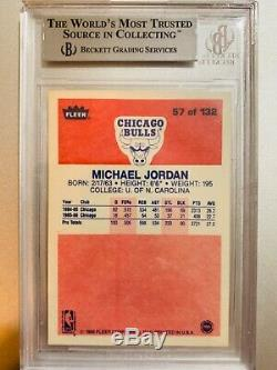 MICHAEL JORDAN 1986 86-87 FLEER #57 ROOKIE RC BGS 9 Beckett 6871069 GEM RARE