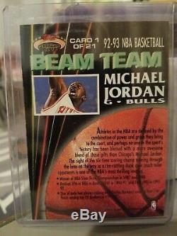 MICHAEL JORDAN 1992-93 Stadium Club Beam Team #1 MEMBERS ONLY Parallel SP /10000