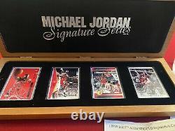 MICHAEL JORDAN, ON CARD Autograph, Auto Signature Series ExquisIte Set 141/1000