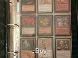 MTG Magic the Gathering full Tempest card set in original binder 1997 NR