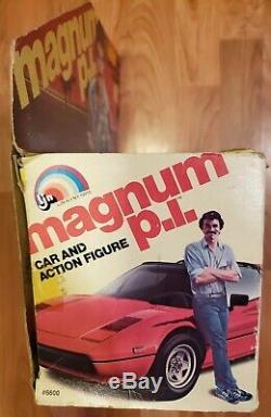 Magnum p. I. Pi LJN Ferrari Car Tom Selleck Figure Magnum PI Box Set Rare read