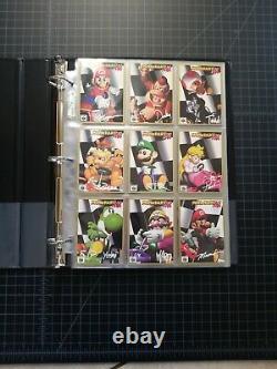 Mario Kart 64 Trading Card Set with Binder Nintendo Collectible