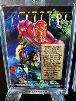 Marvel Masterpieces 1995 Mirage Card Set ULTRA-RARE #1 Avengers #2 X-Men