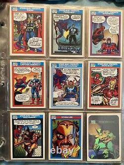 Marvel trading cards lot 1990-1991 Complete 1990 set, Binder included