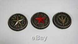 Master Morpher Green Lens & Set of 3 Power Weathered Coins Ranger Cosplay Prop