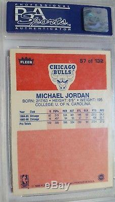Michael Jordan 1986 Fleer Basketball Set RC Rookie #57 PSA 8 NM-MT