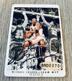 Michael Jordan 1996 4 Card Box Set Signature Series Upper Deck Uda Auto #/1000