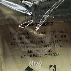Michael Jordan Flying High Upper Deck Metal Collector 10 Card Set Factory Sealed
