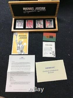 Michael Jordan Porcelin Signature Series 4 Card Set With Autograph And Cert