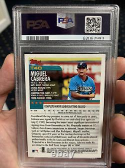 Miguel Cabrera rookie card PSA 10 GEM MINT 2000 Topps Traded #T40