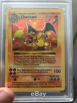 Misprint shadowless charizard psa 7 Pokémon base set Error