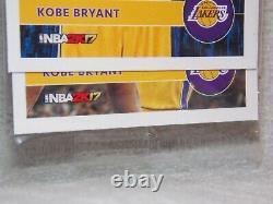 NBA Hoops 2K17 Kobe Bryant 2016-17 Panini America, INC. Trading Cards #2 & #8