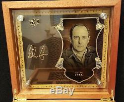 Nolan Ryan 2016 UD Master Collection Auto/Patch/Autographed Mahogany Box 1/10