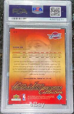 POP 52003 LeBron James UPPER DECK FRESHMAN SEASON BOX SET ROOKIE #27 PSA 9 BGS