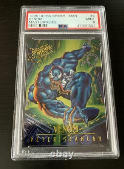 PSA Graded Set 8s & 9s -1995 Fleer ULTRA Spider-Man MASTERPIECES-Venom Carnage