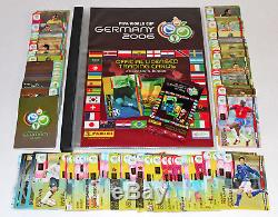 Panini TRADING CARDS FIFA World Cup WM GERMANY 2006, COMPLETE SET (205) + BINDER